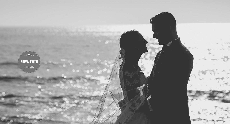 Erika e Stive em sessão fotográfica após casamento