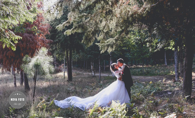 Sílvia e Joel em sessão fotográfica após casamento