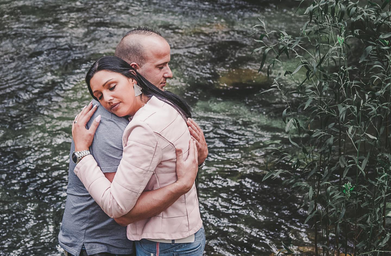 Angela e Jorge, o abraço