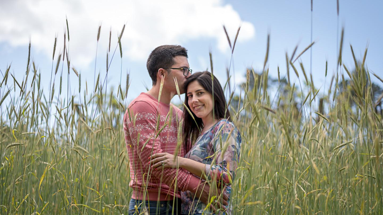 Cláudia e João, o beijo
