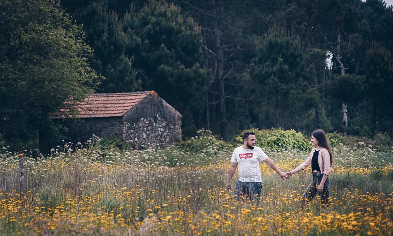Diana e Rafael no campo