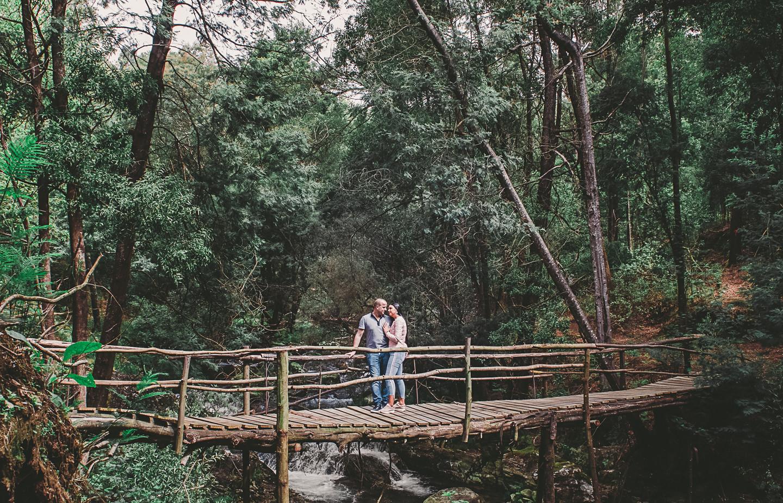 Ângela e Jorge na ponte