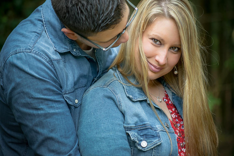 Stéphanie e David um sorriso