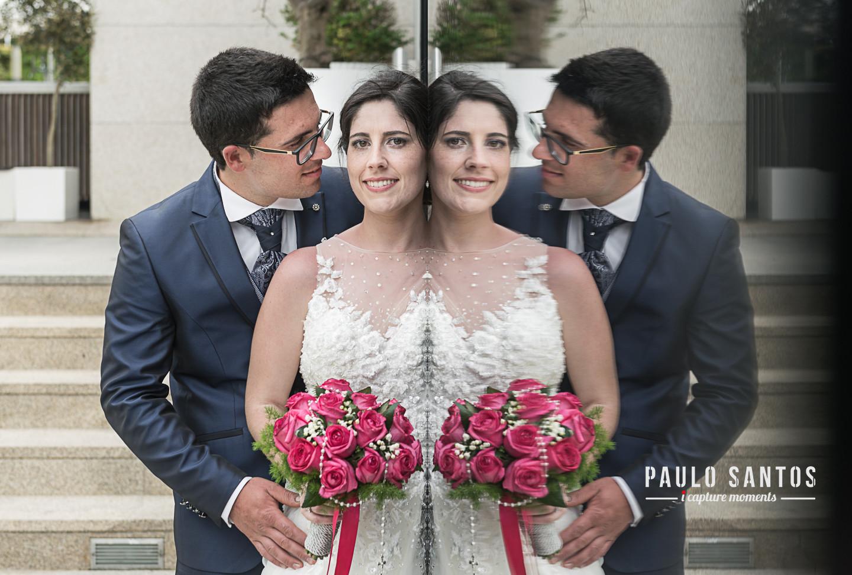 Cláudia e João fotografia espelho
