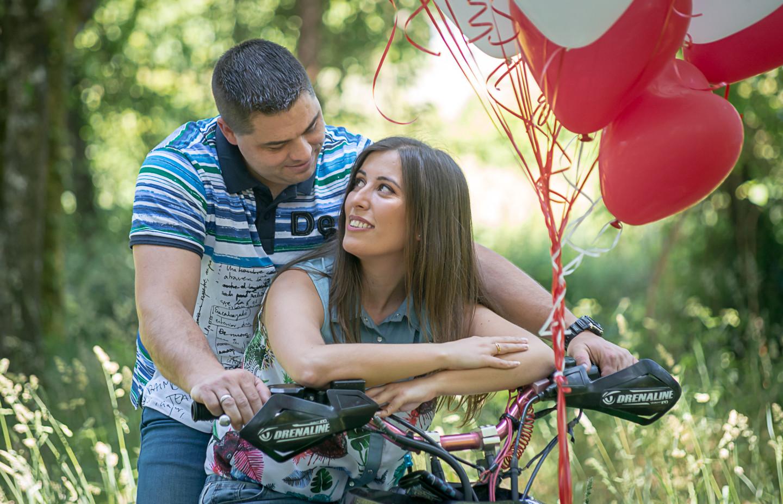 Os noivos Leticia e Miguel
