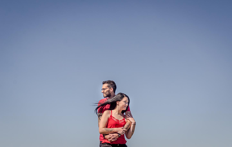 Os noivoa Tita e Micael