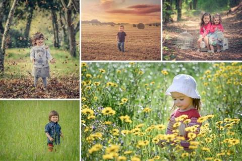 Sessão fotográfica de criança no exterior