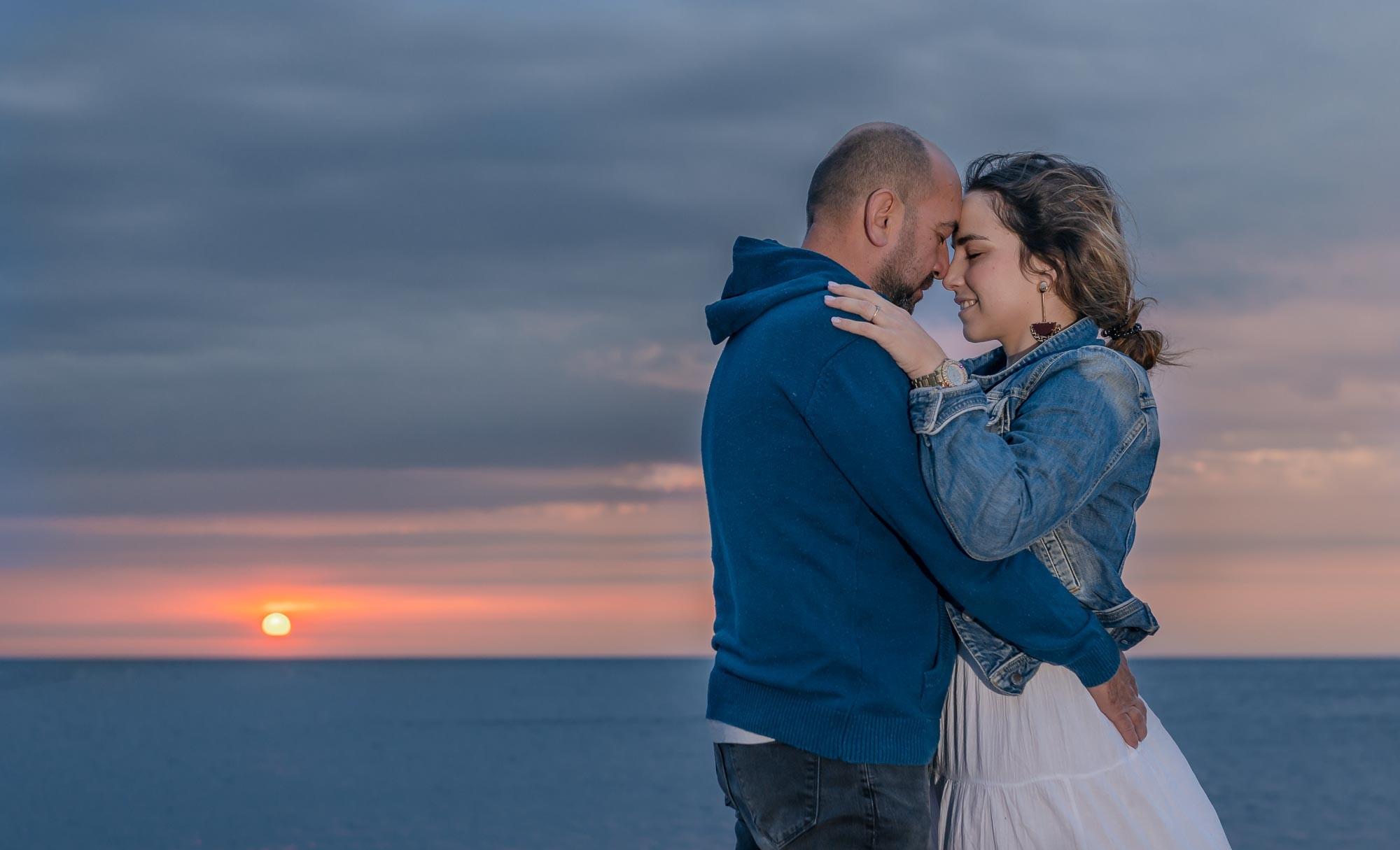 Filipa e Sergio ao nascer do sol